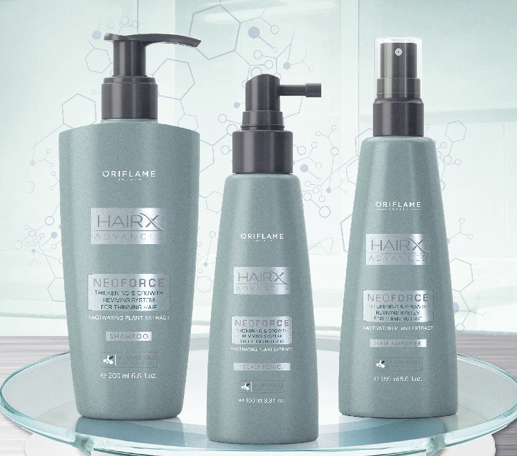 HAIR DENSE AND STRONGER WITH NEOFORCE HAIRX ADVANCED BY ORIFLAME
