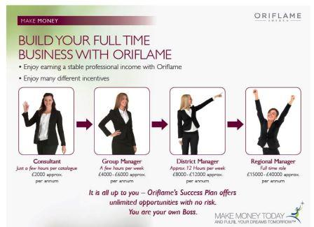 making money with oriflame