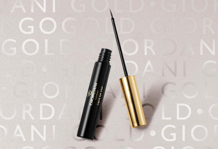 Giordani Gold Liquid Eye Liner – Sparkling Black