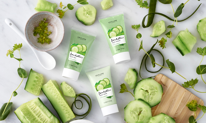 SKINCARE AND CUCUMBER