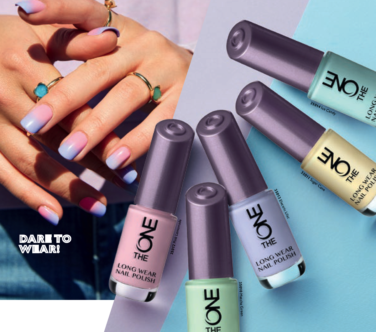The ONE Long Wear Nail Varnish : Pastel Colours