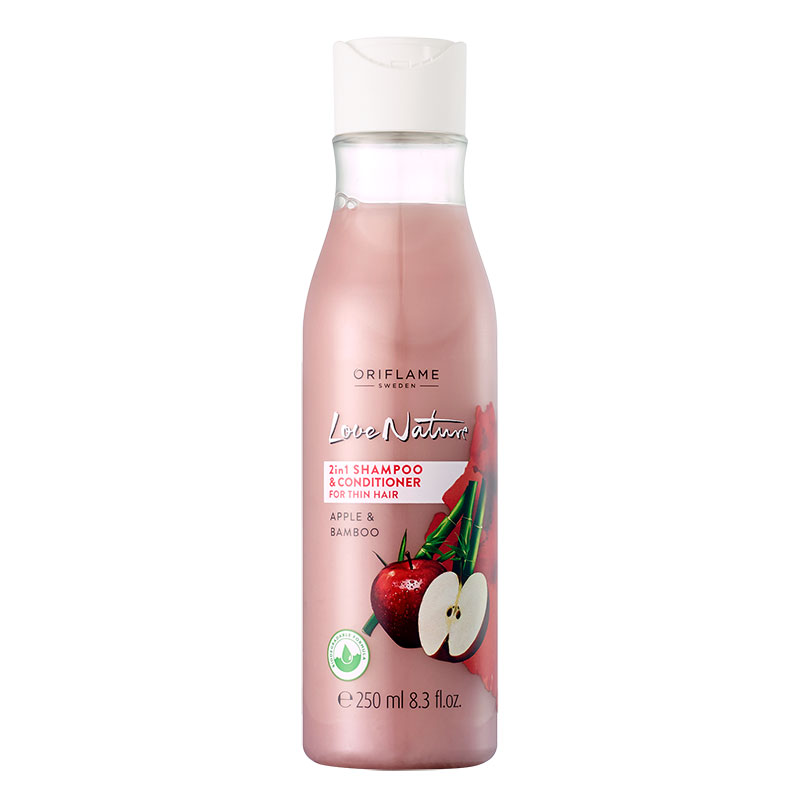 Love Nature 2-in-1 Shampoo & Conditioner for Thin Hair Apple & Bamboo